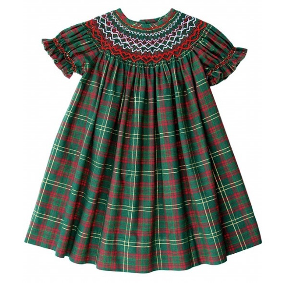 46f3f4418432cc Carousel Wear Other - Baby Girls Smocked Christmas Dress - 12 Months